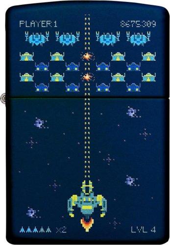 ZIPPO Navyblau Pixel Game