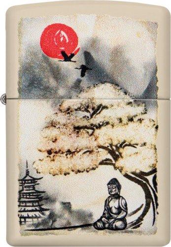 ZIPPO crome color Bonsai Buddah