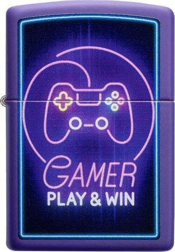 ZIPPO lila matt Gamer Play and Win