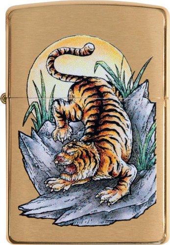 ZIPPO messing gebürstet Tattoo Tiger