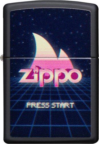 ZIPPO schwarz Press Start Button