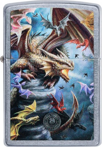 ZIPPO street color Anne Stokes Dragons