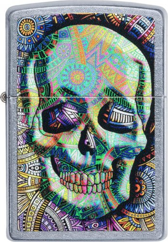ZIPPO street color Geometric Skull