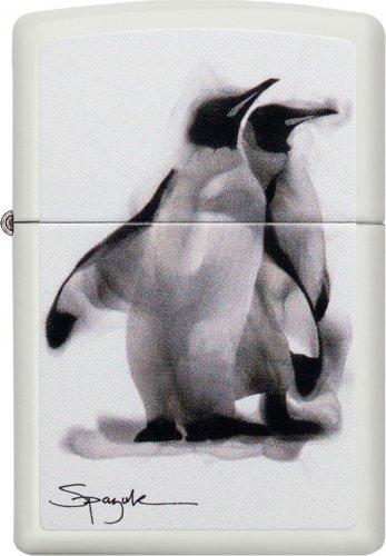 ZIPPO weiß Spazkuk Pinguine