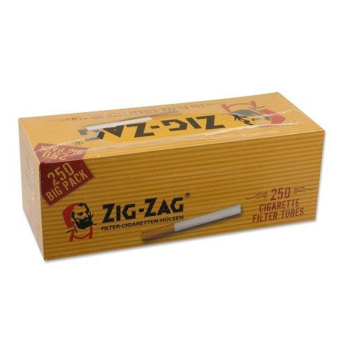 Zig-Zag Gelb Zigarettenhülsen 250 Stück