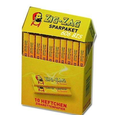 Zig-Zag Zigarettenpapier Sparpaket 10x50 Blättchen