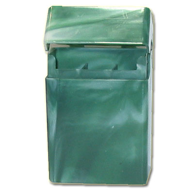 Atomic Zigaretten-Etui Plastik grün
