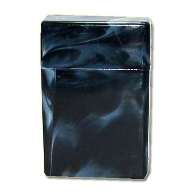 Atomic Zigaretten-Etui Plastik schwarz