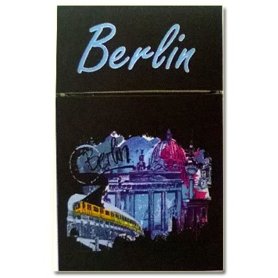 Zigaretten-Faltschachtel Berlin 2mit Brandenburger Tor Motiv