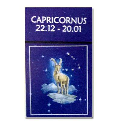 Zigaretten-Faltschachtel Sternzeichen Capricornius/Steinbock