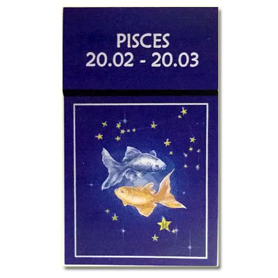 Zigaretten-Faltschachtel Sternzeichen Pisces/Fische