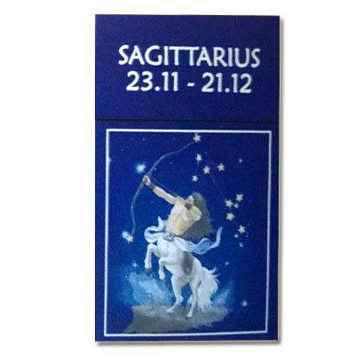 Zigaretten-Faltschachtel Sternzeichen Sagittarius/Schütze