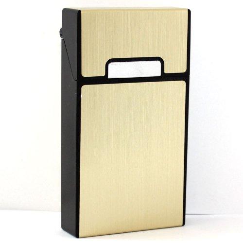Zigarettenbox Kunststoff Gold Slim 100mm Metalloptik