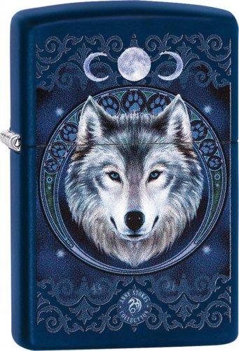 Zippo Anne Stokes Wolf Moon Navyblau