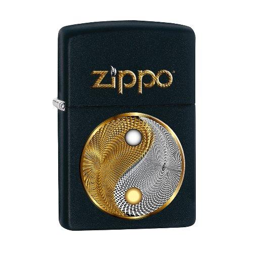 Zippo Feuerzeug Abstract Yin Yang schwarz matt