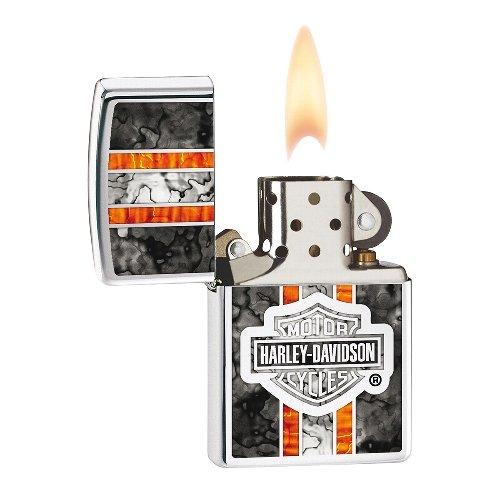 Zippo Feuerzeug Chrom poliert Harley Davidson