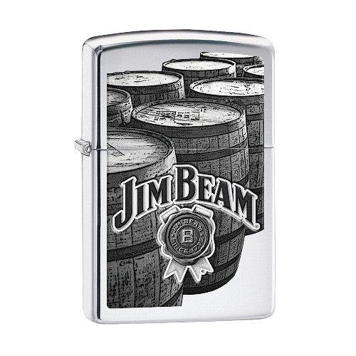 Zippo Feuerzeug Chrom poliert Jim Beam Barrels