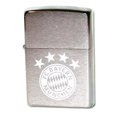 Zippo Feuerzeug FC Bayern Chrom