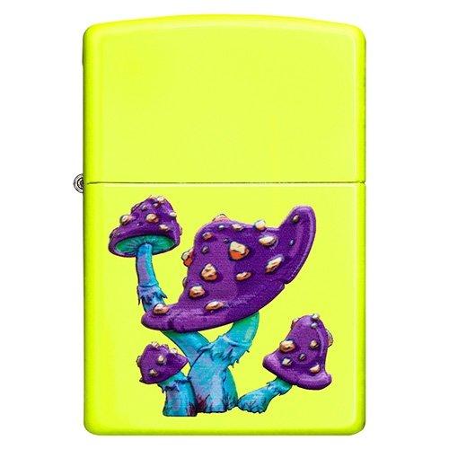Zippo Feuerzeug Mushroom Pilz Neongelb