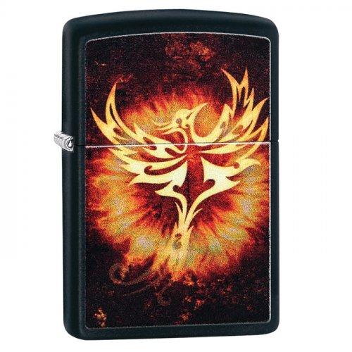 Zippo Feuerzeug Phoenix Schwarz Matt