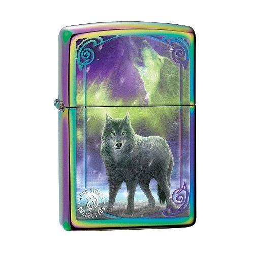 Zippo Feuerzeug Rainbow Anne Stokes Wolf