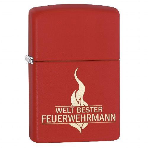 Zippo Feuerzeug Weltbester Feuerwehrmann