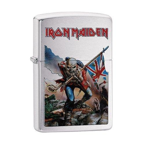 Zippo Feuerzeug chrom gebürstet Iron Maiden