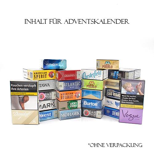 Adventskalender mittlere Zigaretten