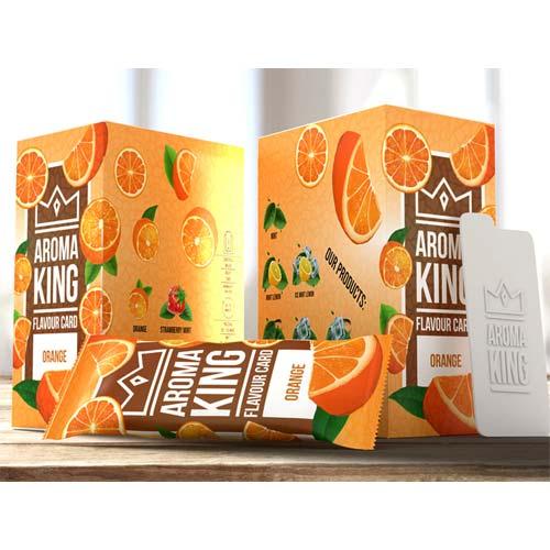Aroma King Orange Flavour Card
