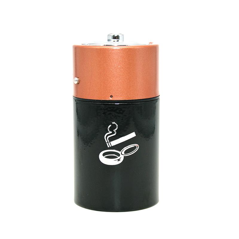 Ascher mit Sprungdeckel Batterie, Motiv Zigarette