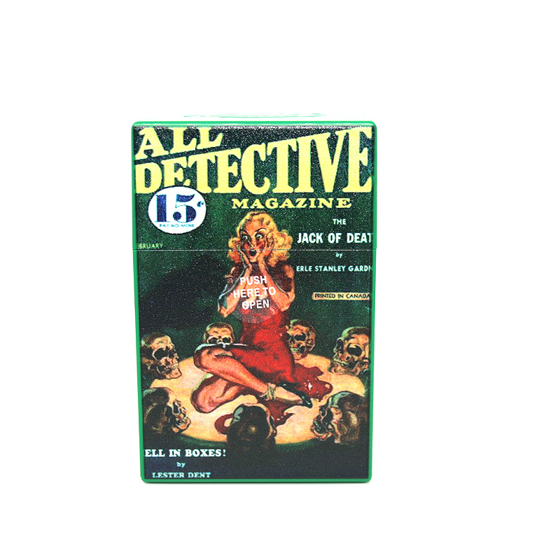 Atomic Zigaretten-Etui 20er Motiv All Detective Magazine Jack of Death