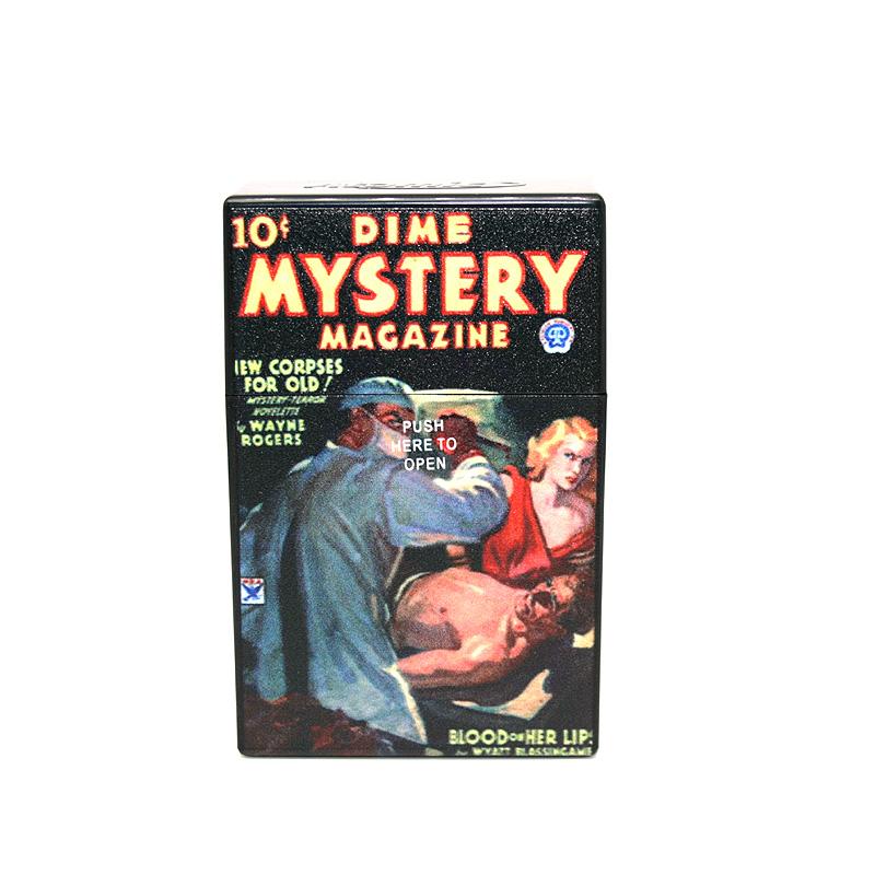 Atomic Zigaretten-Etui 20er Motiv Dime Mystery Magazine
