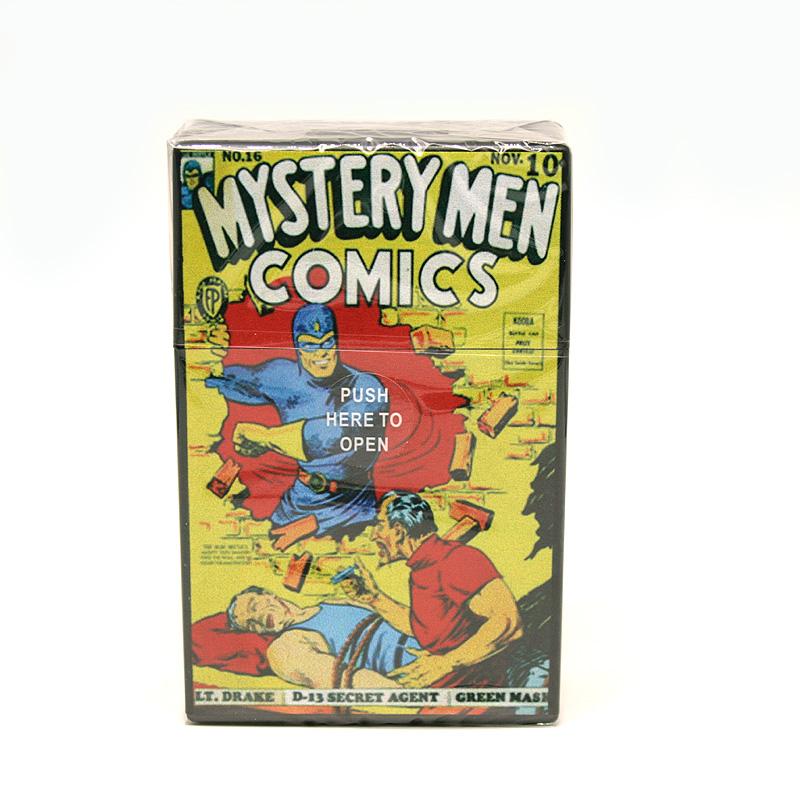 Atomic Zigaretten-Etui 20er Motiv Mystery Men