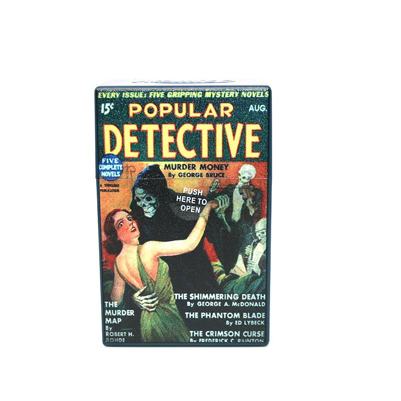 Atomic Zigaretten-Etui 20er Motiv Popular Detective Murder Money