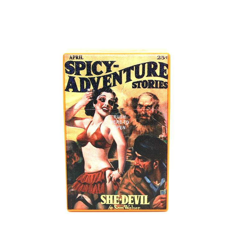 Atomic Zigaretten-Etui 20er Motiv Spicy Adventure Stories She Devil