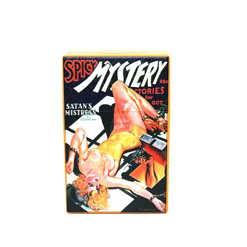Atomic Zigaretten-Etui 20er Motiv Spicy Mystery Stories of October
