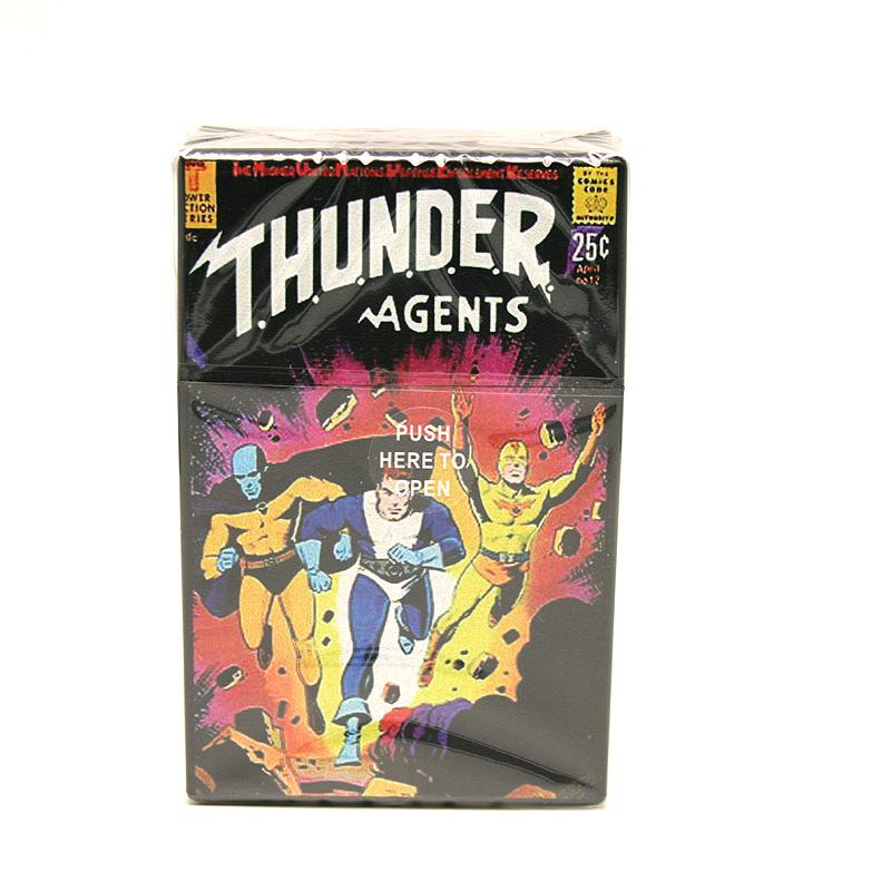 Atomic Zigaretten-Etui 20er Motiv Thunder Agents