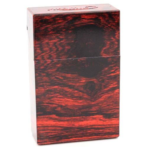 Atomic Zigarettenbox King Size Holz Marmorierung Dunkel Rot