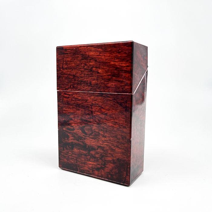 Atomic Zigarettenbox King Size Holz Marmorierung Rot
