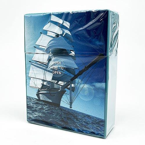 Atomic Zigarettenbox King-Size Maritim Hellblau
