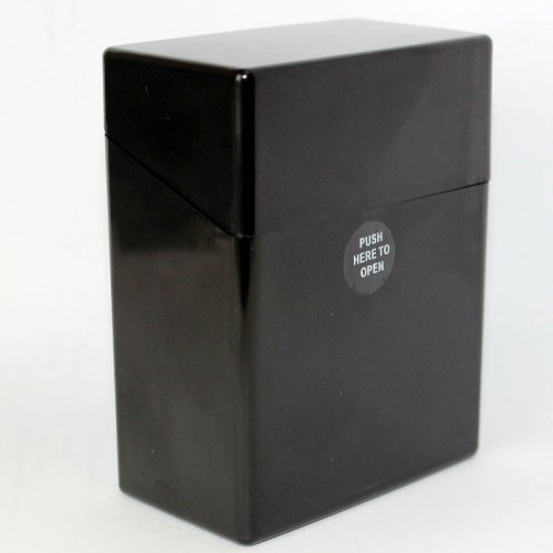 Atomic Zigarettenbox Schwarz für 50 Stück Zigaretten