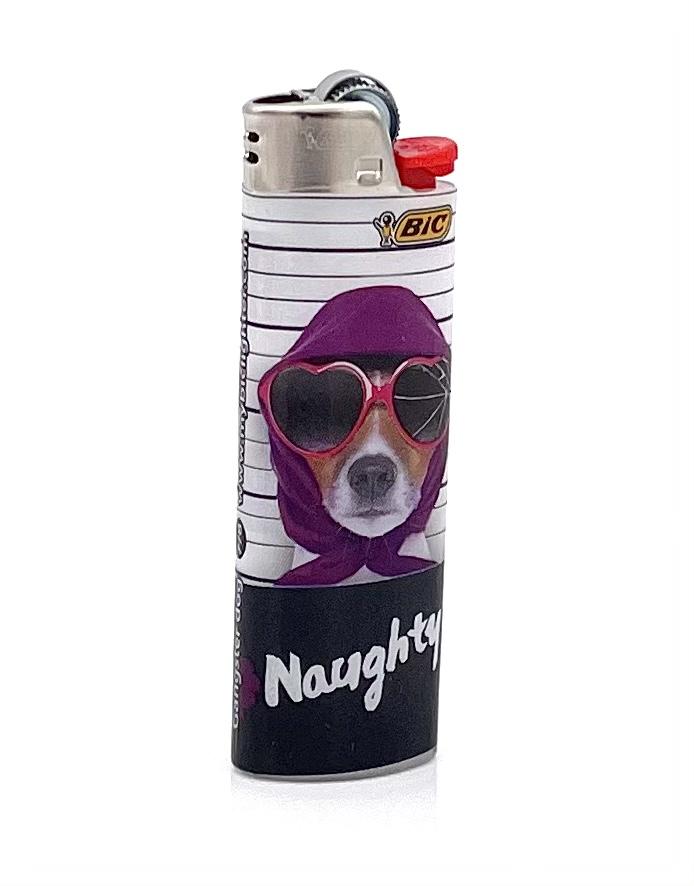 BIC Feuerzeug Gangster Dog NAUGHTY