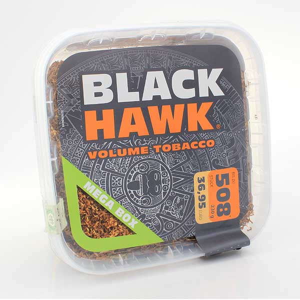 Black Hawk Tabak 230g Mega Box Volumentabak