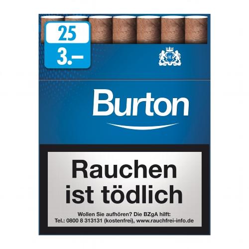 Burton Filter Cigarillos Blue mit Naturdeckblatt 25er (ehemals White)