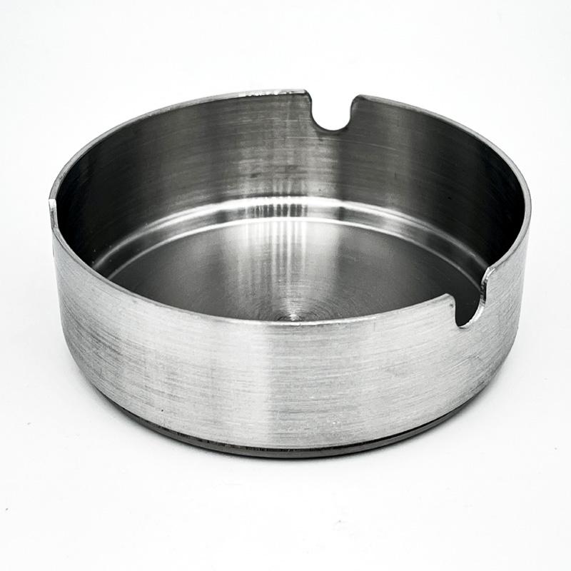 Champ Aschenbecher silber, Durchmesser 8cm, Edelstahl