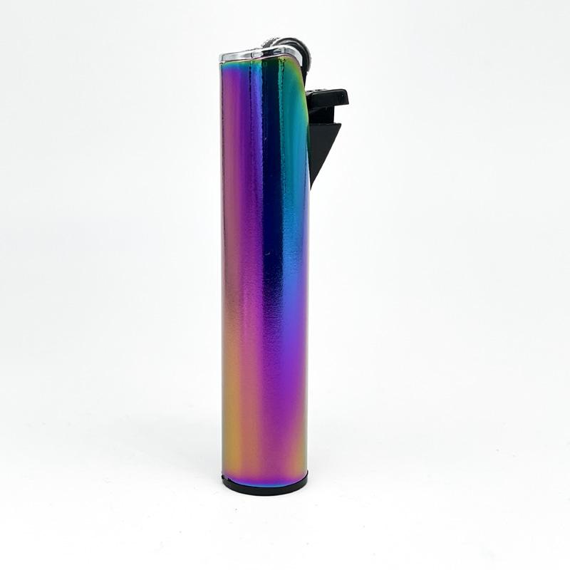 Champ Lighters Deluxe, Feuerzeug mit Reibrad, Flint metal, regenbogen
