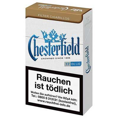 Chesterfield Filterzigarillos Blue King Size mit Naturdeckblatt