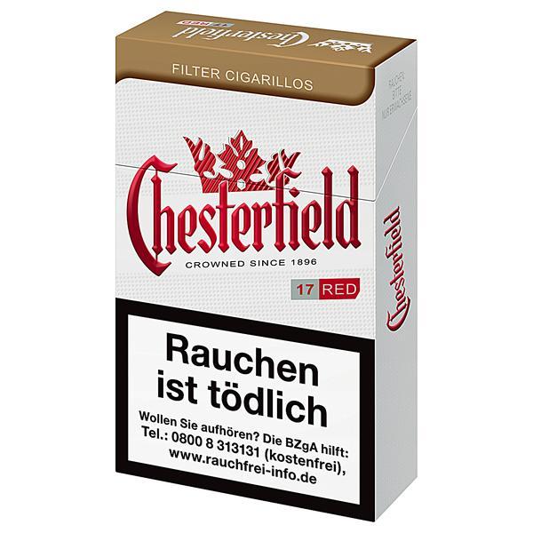 Chesterfield Filterzigarillos Red Naturdeckblatt
