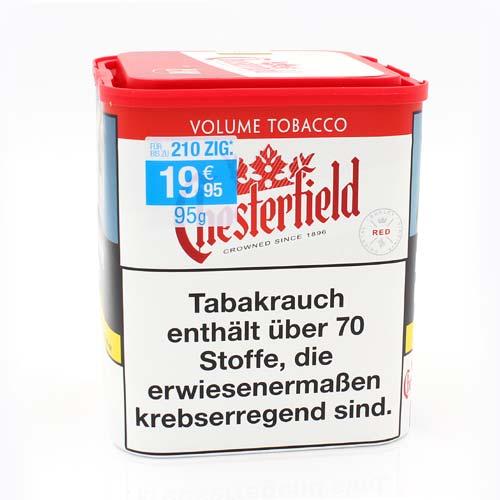 Chesterfield Tabak Rot 95g Dose Volumentabak