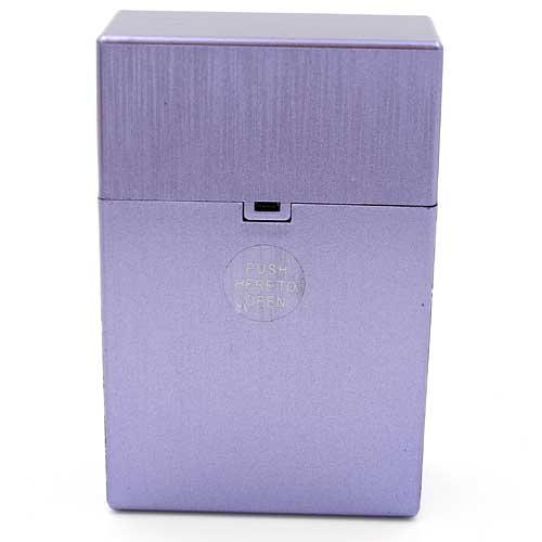 Clic Box Zigarettenbox 20er Metallikfarbig Lila